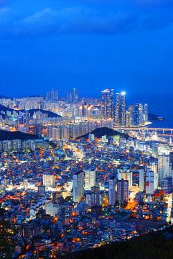 SKO0111 Asia, Republic of Korea, South Korea, Busan, city skyline