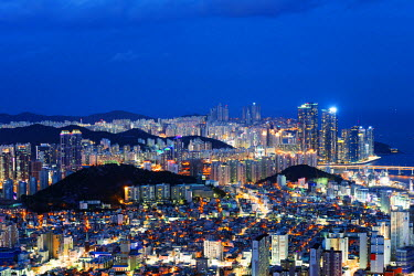 SKO0112 Asia, Republic of Korea, South Korea, Busan, city skyline