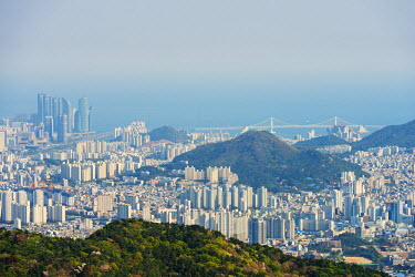 SKO0127 Asia, Republic of Korea, South Korea, Busan, city skyline