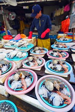 SKO0156 Asia, Republic of Korea, South Korea, Busan, Jagalchi fish market