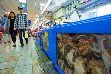 SKO0159 Asia, Republic of Korea, South Korea, Busan, Jagalchi fish market