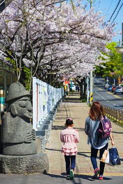 SKO0236 Asia, Republic of Korea, South Korea, Jeju island, Jeju city, Dol hareubang (harubang) protection and furtility statue