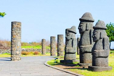 SKO0275 Asia, Republic of Korea, South Korea, Jeju island, Seogwipo city, Dol hareubang (harubang) protection and furtility statue