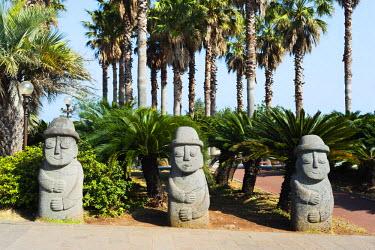 SKO0277 Asia, Republic of Korea, South Korea, Jeju island, Seogwipo city, Dol hareubang (harubang) protection and furtility statue