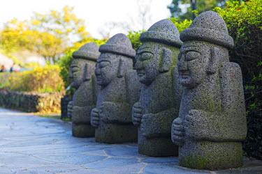 SKO0279 Asia, Republic of Korea, South Korea, Jeju island, Seogwipo city, Dol hareubang (harubang) protection and furtility statue