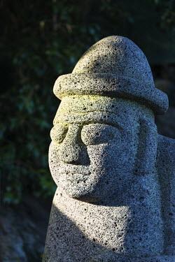 SKO0280 Asia, Republic of Korea, South Korea, Jeju island, Seogwipo city, Dol hareubang (harubang) protection and furtility statue