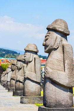 SKO0286 Asia, Republic of Korea, South Korea, Jeju island, Seogwipo city, Dol hareubang (harubang) protection and furtility statue