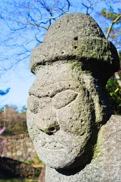 SKO0293 Asia, Republic of Korea, South Korea, Jeju island, Dol hareubang (harubang) protection and fertility statue at Dolhareubang Park