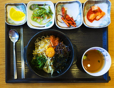SKO0381 Asia, Republic of Korea, South Korea, Seoul, bibimpab restaurant