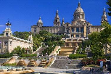 HMS0239183 Spain, Cataloni, Barcelona, Montjuic Hill, National Palace (Palau Nacional)