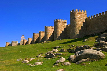 HMS0449971 Spain, Castilla and Leon, Avila, old city listed as World Heritage by UNESCO, the ramparts dated 12th century