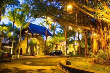 MA01356 Entrance to Le Touessrok Hotel, Trou D'eau Douce, Flacq, East Coast, Mauritius