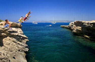 HMS0241389 Spain, Balearic Islands, Ibiza island, Cala d' En Bassa
