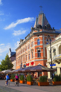 SLV1262AW Outdoor cafes in Hlavne Nam (Main Square), Kosice, Kosice Region, Slovakia