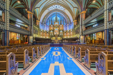 CN10RTI0054 Canada, Quebec, Montreal, Notre Dame Basilica.