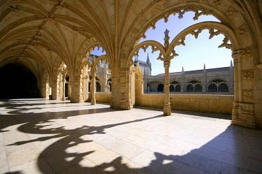 HMS0211059 Portugal, Lisbon, B�lem, cloister of Jer�nimos Monastery, listed as World Heritage by UNESCO