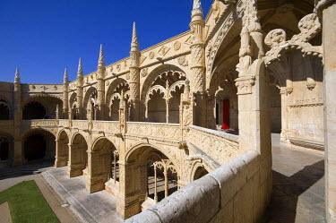 HMS0211061 Portugal, Lisbon, B�lem, cloister of Jer�nimos Monastery, listed as World Heritage by UNESCO