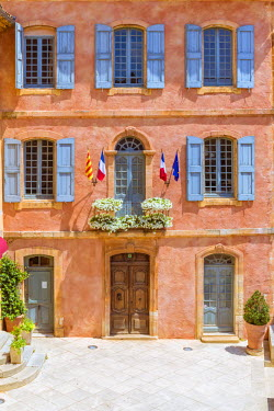 FRA8355AW France, Provence Alps Cote d'Azur, Vaucluse, Roussillon. Town Hall (Hotel de Ville) in the old town