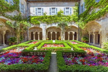 FRA8423AW France, Provence Alps Cote d'Azur, Saint Remy de Provence. Monastery of  St. Paul-de-Mausole, cloister