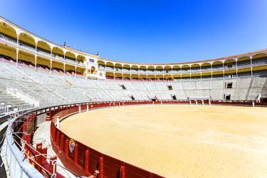 SPA5800AW Spain, Madrid. Plaza de Toros de Las Ventas, bullfighting arena of Madrid