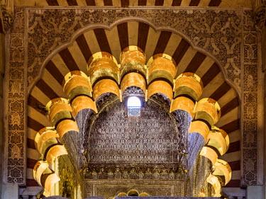 SPA5861AW Spain, Andalusia, Cordoba. Interior of the Mezquita (Mosque) of Cordoba