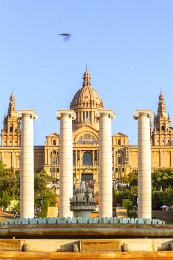 SPA6041AW Spain, Catalonia, Barcelona. Palau Nacional, National Art Museum of Catalonia, Montjuic