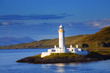 SCO33282AW Europe, United Kingdom, Scotland, Argyle and Bute, Lismore, the 19th Century Lismore lighthouse and  Loch Linnhe built by Robert Stevenson in 1833