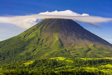 CR32974AW Costa Rica, Alajuela, La Fortuna. The Arenal Volcano. Although classed as active the volcano has not shown any explosive activity since 2010.