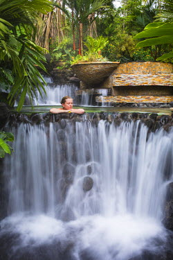 CR32992AW Costa Rica, Alajuela, La Fortuna. Hot Springs at The Tabacon Grand Spa Thermal Resort. (MR)