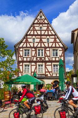 DE05215 Old Town Restaurant, Sigmaringen, Swabia, Baden Wurttemberg, Germany, Europe