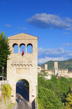 ITA3318AW View of Porta Tufilla and Ascoli Piceno, Le Marche, Italy
