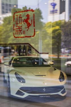 CN03258 Ferrari showroom, Lujiazui, Pudong, Shanghai, China