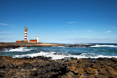 SPA6057AW Lighthouse Faro El Toston, El Cotillo, Fuerteventura, Canary Islands, Spain