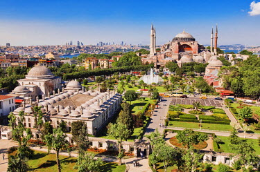 HMS0192347 Turkey, Istanbul, historical centre listed as World Heritage by UNESCO, Sultanahmet District, Aya Sofya (Hagia Sophia)