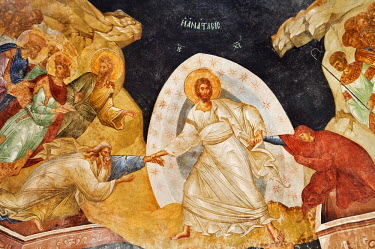 HMS0192294 Turkey, Istanbul, historical centre listed as World Heritage by UNESCO, former Byzantine Church of Kariye Camii (Chora Church) converted into a museum, Paraclesion frescoes, the Resurrection of Christ...