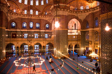 HMS0379437 Turkey, Istanbul, historical centre listed as World Heritage by UNESCO, Eminonu District, the Yeni Cami (New Mosque)