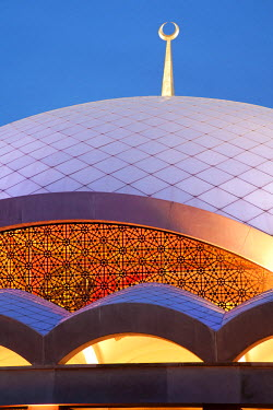 HMS0379412 Turkey, Istanbul, Uskudar District, Sakirin Mosque, by architect Husrev Talya and interior designer the woman Zeynep Fadilioglu, the most modern mosque in Turkey decorated by a woman