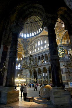 HMS0530875 Turkey, Istanbul, historical centre listed as World Heritage by UNESCO, Sultanahmet District, Hagia Sophia Basilica