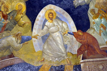 HMS0531058 Turkey, Istanbul, historical centre listed as World Heritage by UNESCO, former Byzantine Church of Kariye Camii (Chora Church) converted into a museum, Paraclesion frescoes, the Resurrection of Christ...