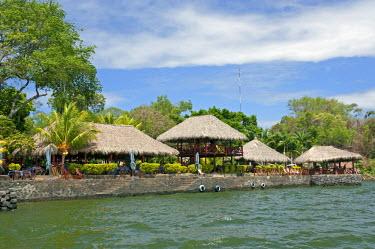 NIC0185 Nicaragua, Granada. Restaurant on shore of Lake Nicaragua.