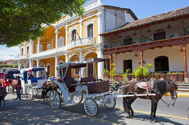 NIC0187 Nicaragua, Granada. Tourist carriage in the main square.