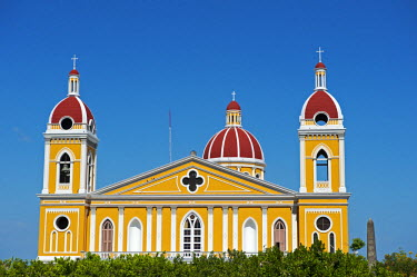 NIC0191 Nicaragua, Granada. The Cathedral of Granada.