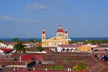 NIC0196 Nicaragua, Granada. The Cathedral of Granada.