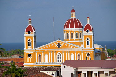 NIC0198 Nicaragua, Granada. The Cathedral of Granada.