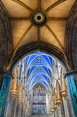 SCO33292AW Europe, Scotland, Edinburgh, St Giles Cathedral