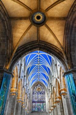 SCO33292AW Europe, Scotland, Edinburgh, St Giles Cathedral