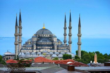 TK226RF Turkey, Istanbul, Sultanahmet, The Blue Mosque (Sultan Ahmed Mosque or Sultan Ahmet Camii)