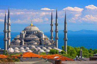 TK227RF Turkey, Istanbul, Sultanahmet, The Blue Mosque (Sultan Ahmed Mosque or Sultan Ahmet Camii)
