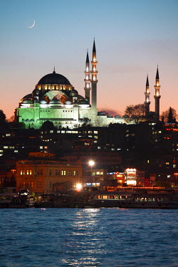 HMS0563411 Turkey, Istanbul, historical centre listed as World Heritage by UNESCO, Suleymaniye District, Suleymaniye Camii (Suleymaniye Mosque) built by architect Mimar Sinan