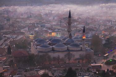 HMS1327107 Turkey, European Side, Trakia Region, Edirne, Eski Cami, Old Mosque built in 1414, caligraphic paintings